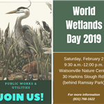 bird and information on World Wetlands Day 2019 event