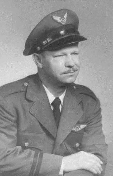 Black and White Photo of David M. Wollesen, Pilot for U.S. Steel Corp.