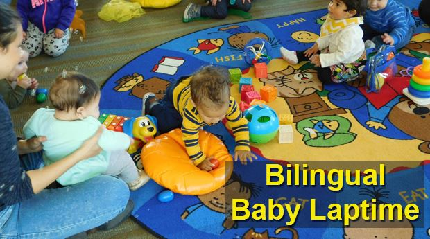 Bilingual Baby Laptime - Every Weds, 10:30am @ Freedom Branch, Every Fri, 10:30am @ Main Library