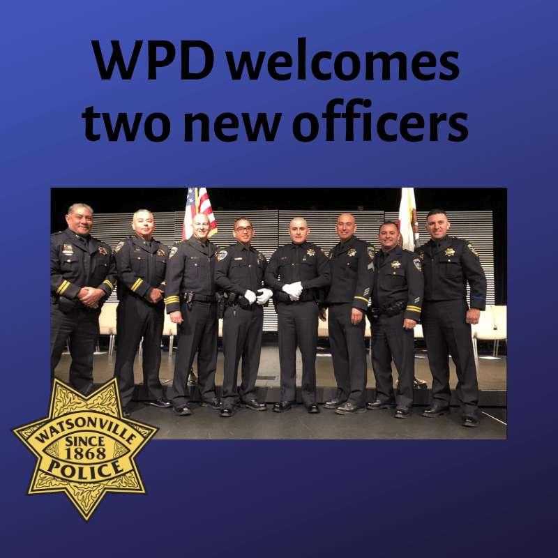 WPD welcomes two new officers
