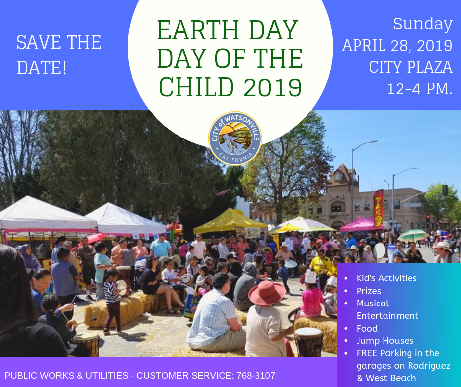 participants of the 2018 Earth Day/Day of the Child + information on 2019 event