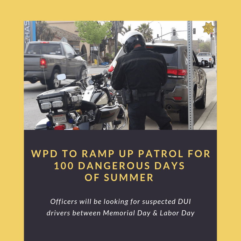 WPD to ramp up patrol for 100 dangerous days of summer (1)