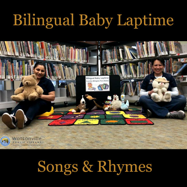 two women with teddy bears in their lap about to do storytime with the text bilingual baby laptime s