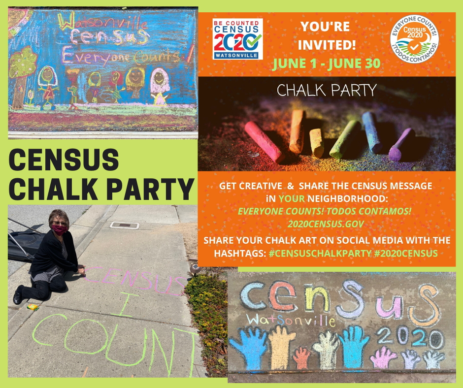 Census Chalk Party___