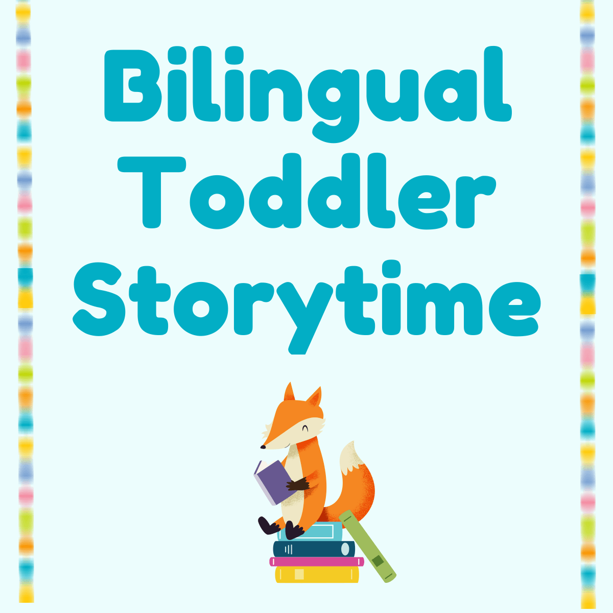 Toddler Storytime access the storytime on zoom  image of two women reading book to gorilla in chair
