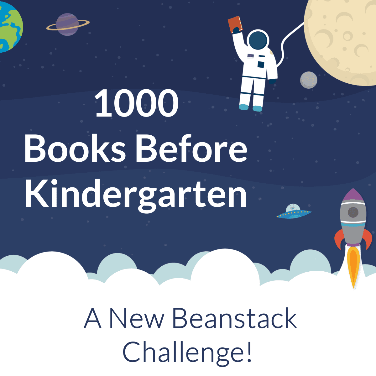 1000 Books Before Kindergarten A Newbeanstack challenge with images from space