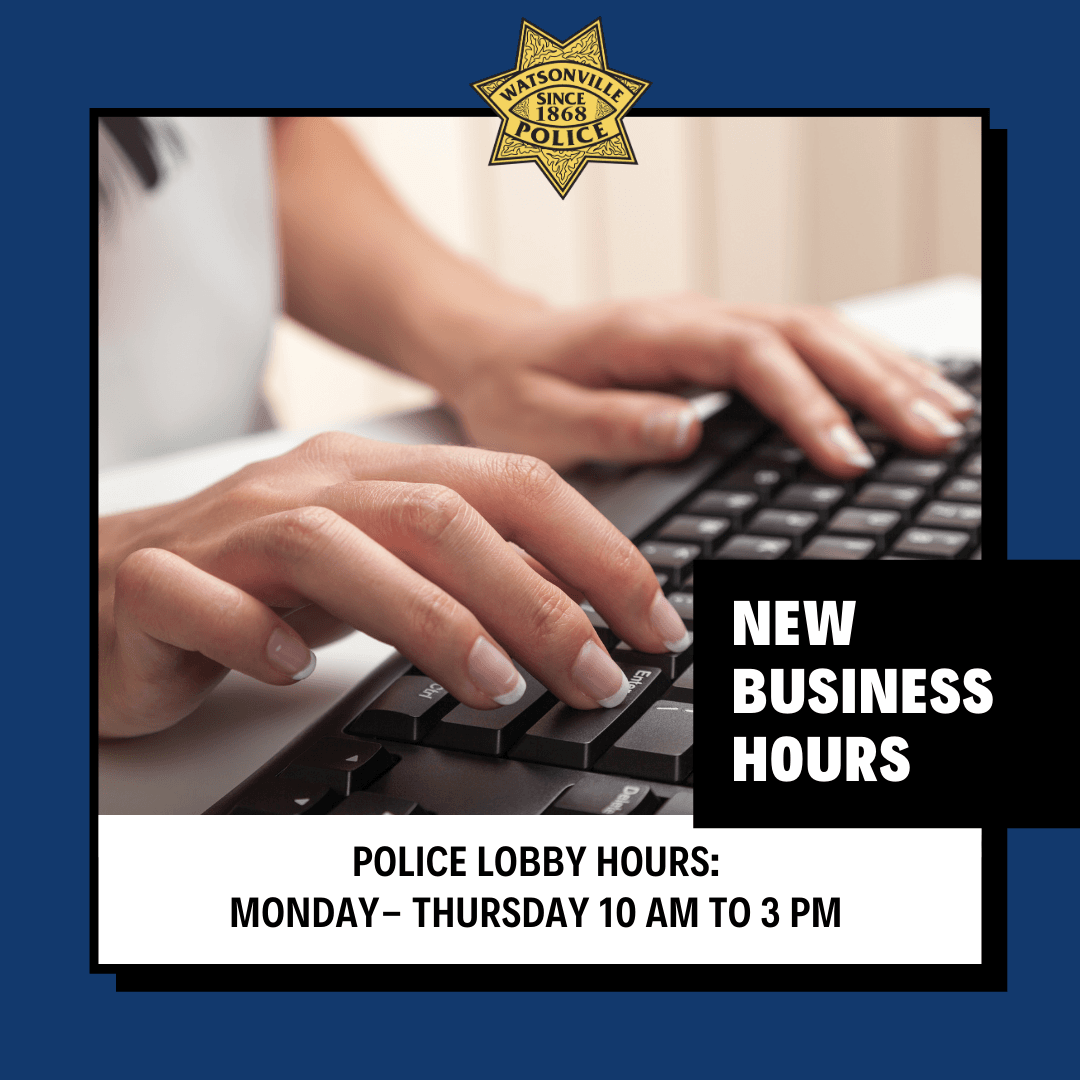 New PD Lobby hours 2021