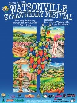 2016 strawberry festival poster with strawberry images
