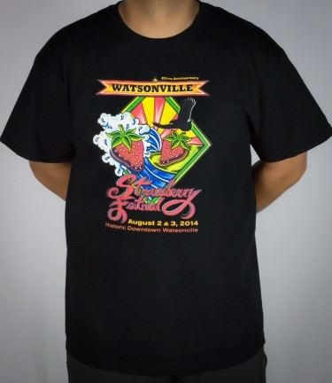 20th Anniversary logo Black T-shirt