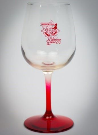 20th Anniversary logo wine glass