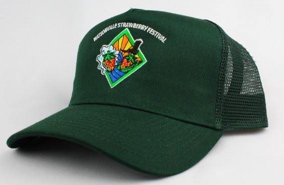 Strawberry Festival logo green hat