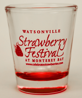 Strawberry Festival shot glass