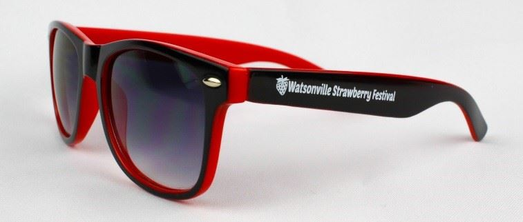 Red sunglasses side view