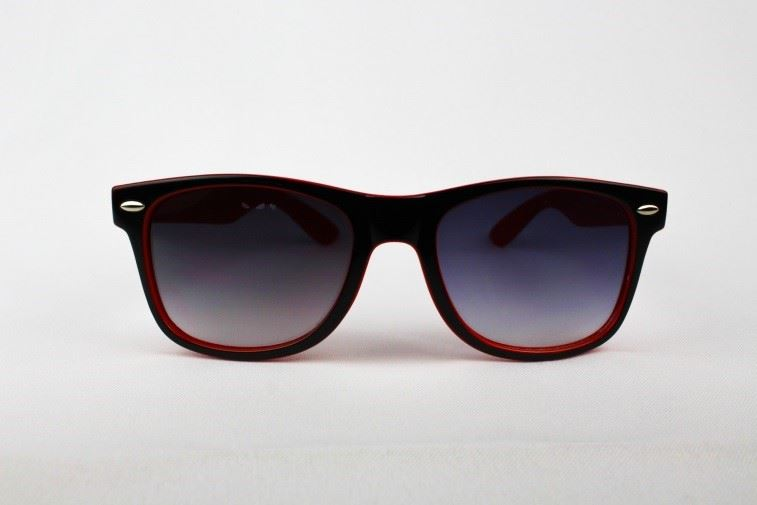 Red sunglasses front view