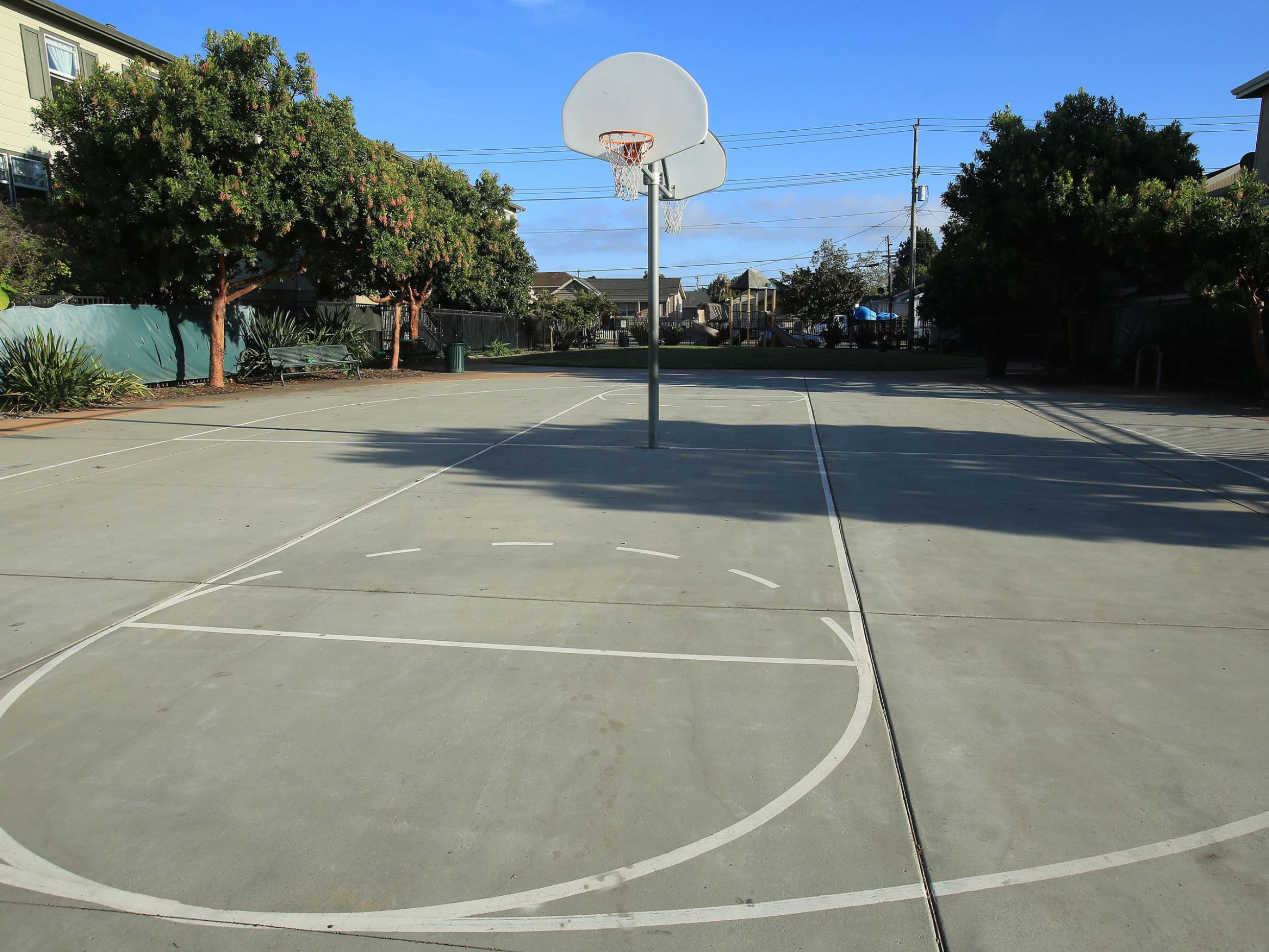 Riverside park basketball court