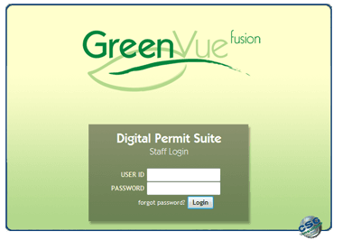GreenVue Login Screen