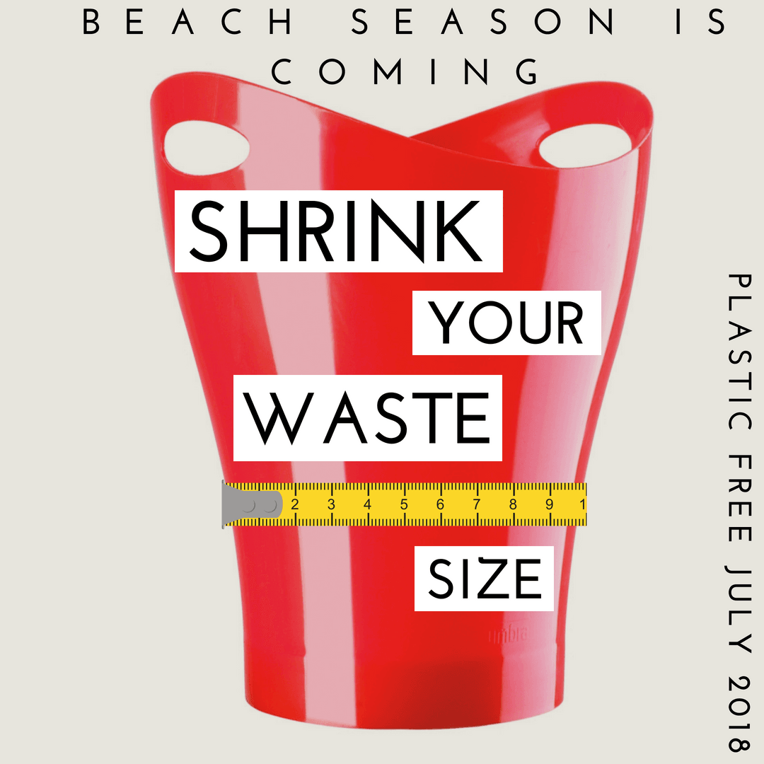 plastic free july shrink waste size