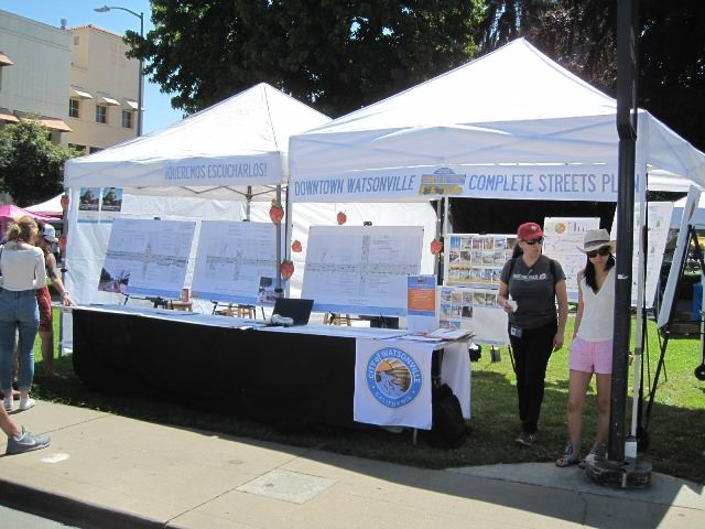 Downtown Complete Streets Booth at Strawberry Festival